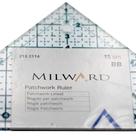 Trojúhelník pravítko pro patchwork d.15cm