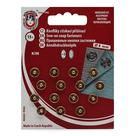 Knoflíky stiskací patentky KIN Ms průměr 8mm (v.1/2) 15ks/karta