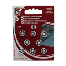 Knoflíky stiskací patentky KIN Ms průměr 10mm (v.2) 8ks/karta