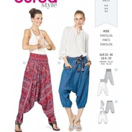 *Burda střih zelený č. 6316 harémové kalhoty, turecké kalhoty