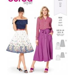 *Burda střih zelený č. 6341 kolová sukně, kruhová sukně, široká sukně, dlouhá sukně
