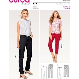 *Burda střih zelený č. 6534 džíny, džínové kalhoty, tříčtvrteční kalhoty
