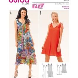 *Burda střih zelený č. 6663 jednoduché letní šaty
