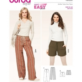 *Burda střih zelený č. 6735 široké kalhoty, šortky