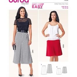 *Burda střih zelený č. 6818 jednoduchá zvonová sukně, dlouhá sukně