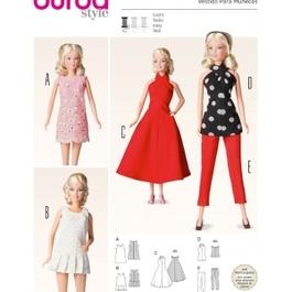 *Burda střih zelený č. 6960 oblečky pro panenky
