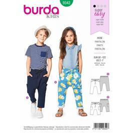 *Burda střih zelený č. 9342 dětské kalhoty