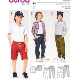 *Burda střih zelený č. 9354 dětské šortky, kalhoty, kapsáče
