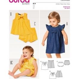 *Burda střih zelený č. 9358 dětské šaty, halenka, kalhotky