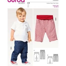 *Burda střih zelený č. 9359 dětské džínové kalhoty, tříčtvrteční kalhoty