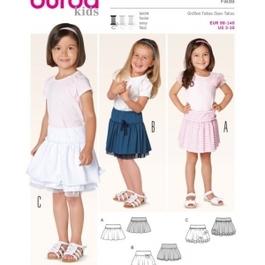 *Burda střih zelený č. 9413 dětská sukně