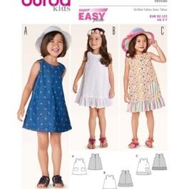 *Burda střih zelený č. 9420 dětské jednoduché šaty