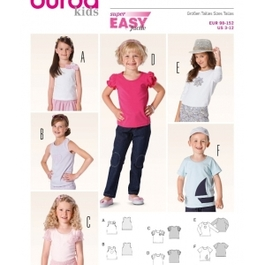 *Burda střih zelený č. 9439 dětské jednoduché tílko, tričko