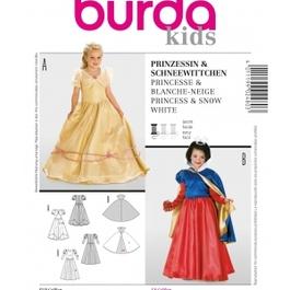 *Burda střih žlutý č. 2480 princezna, Sněhurka