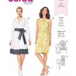 *Burda střih žlutý č. 6338 košilové šaty, zavinovací šaty, letní šaty