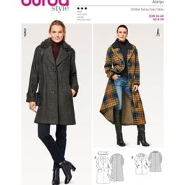 *Burda střih žlutý č. 6462 áčková kabát, dlouhý kabát
