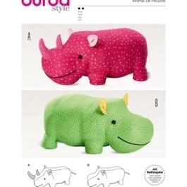 *Burda střih žlutý č. 6560 nosorožec, hroch