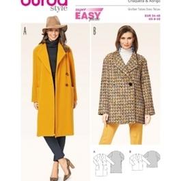 *Burda střih žlutý č. 6736 jednoduchý kabát, krátký kabát