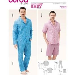 *Burda střih žlutý č. 6741 pánské pyžamo