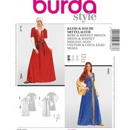 *Burda střih modrý č. 7468 středověké šaty a čepec