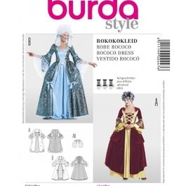 *Burda střih bílý č. 2447 rokokové šaty