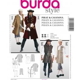 *Burda střih bílý č. 2459 pánský kostým na piráta a Casanovu