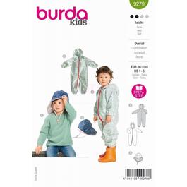 *Burda střih zelený č. 9279 dětská kombinéza, klobouk