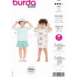 *Burda střih zelený č. 9284 dětské tričko, tričkové šaty