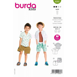 *Burda střih zelený č. 9285 dětská košile, kraťasy