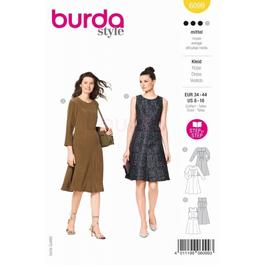 *Burda střih žlutý č. 6099 šaty bez rukávů, šaty s dlouhým rukávem, koktejlové šaty
