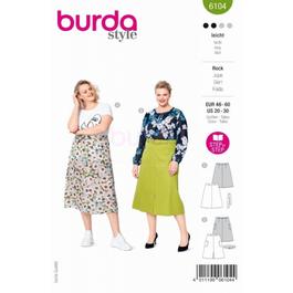 *Burda střih zelený č. 6104 áčková sukně pro plnoštíhlé
