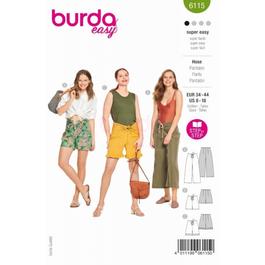 *Burda střih zelený č. 6115 na letní šaty a halenku pro plnoštíhlé ve dvojím provedení