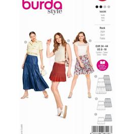 *Burda střih červený č. 6116 řasená sukně s gumou v pase, dlouhá letní sukně
