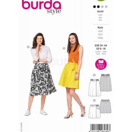 *Burda střih zelený č. 6130 na letní sukni ve dvojím provedení