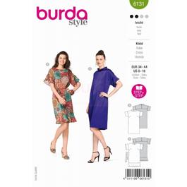 *Burda střih zelený č. 6131 rovné šaty, šaty s límečkem