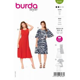 *Burda střih zelený č. 6133 empírové šaty se širokou sukní
