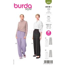 *Burda střih zelený č.6079 na dámské kalhoty širšího střihu
