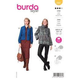 *Burda střih žlutý č.6081 na dámské sako a kabátek na zip