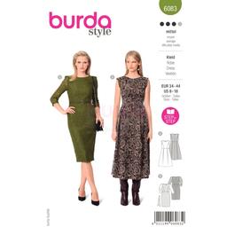 *Burda střih zelený č.6083 na dámské společenské šaty