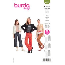 *Burda střih zelený č.6085 na dámské rovné kalhoty