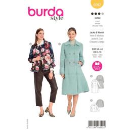 *Burda střih žlutý č.6092 na dámský kabátek a zimní kabát
