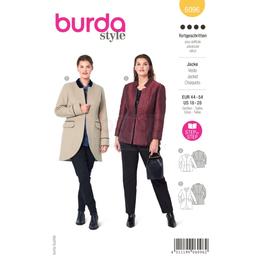 *Burda střih žlutý č.6096 na dámské sako a kabátek pro plnoštíhlé