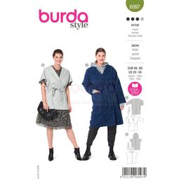 *Burda střih zelený č.6097 na dámský kabát a vestu pro plnoštíhlé