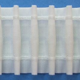 Záclonovka 100%PES š.63mm 50m/bal. řasení tužkové 1:2,5