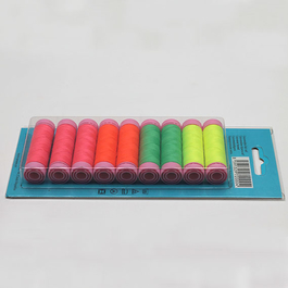 Nitě Aspo 120  100%PESs 100m assort barev 9cívek/bal.