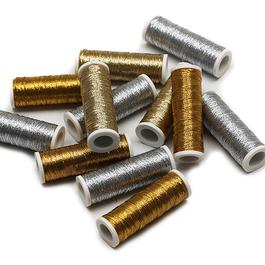 Nitě REXETA 59% polyamid 41% metal.PES 60m 10cívek/bal.