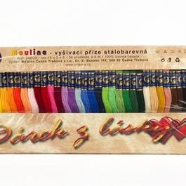 Příze Mouline dárek 100% bavlna návin 8m assort barev 36ks/bal.