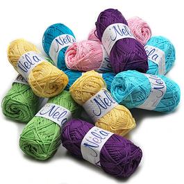 Příze Nela 100%bavlna 50g/123m 10ks/bal.