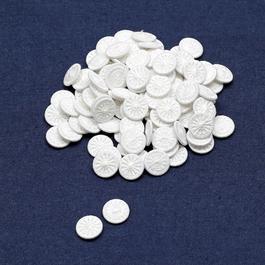 Knoflík nítěný Star v.24 (průměr 15,2mm) sypané 500ks/bal. bílá