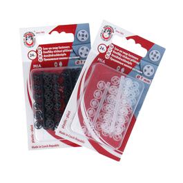 Knoflíky stiskací přišívací MIA plast průměr 7mm (v.1/2) 24ks ph.pl./karta